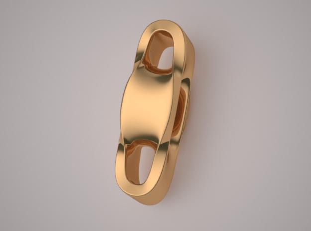 Triple Cube Brass 002 in Polished Brass