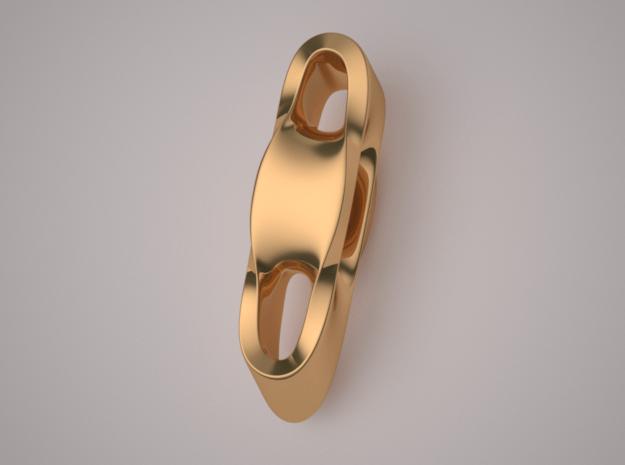 Triple Cube Brass 003 in Polished Brass