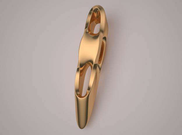 Triple Cube Brass 006 in Polished Brass