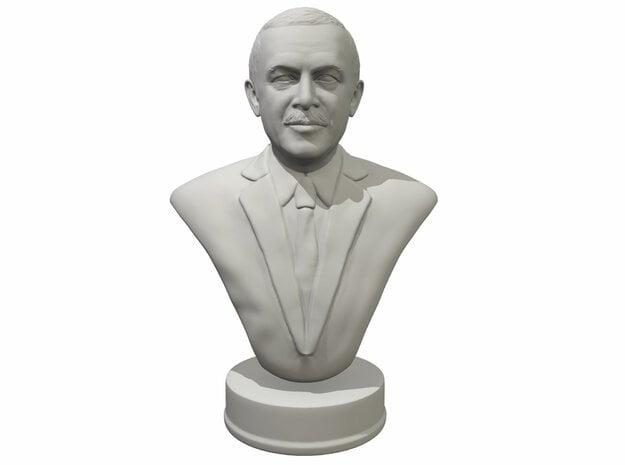 Erdogan portrait bust miniature in White Processed Versatile Plastic