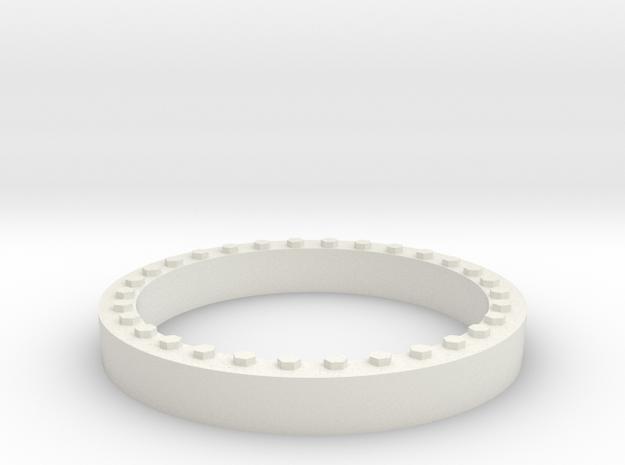 JConcepts Tribute Wheel Beadlock Ring for Monster  in White Natural Versatile Plastic