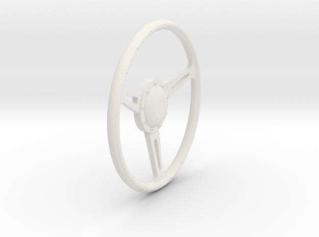 GT500 Steering Wheel 1/12 in White Natural Versatile Plastic
