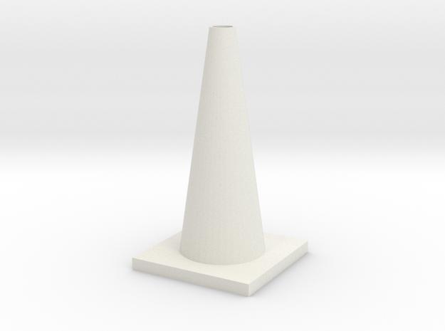 1/10 Scale Traffic Cone For RC  in White Natural Versatile Plastic