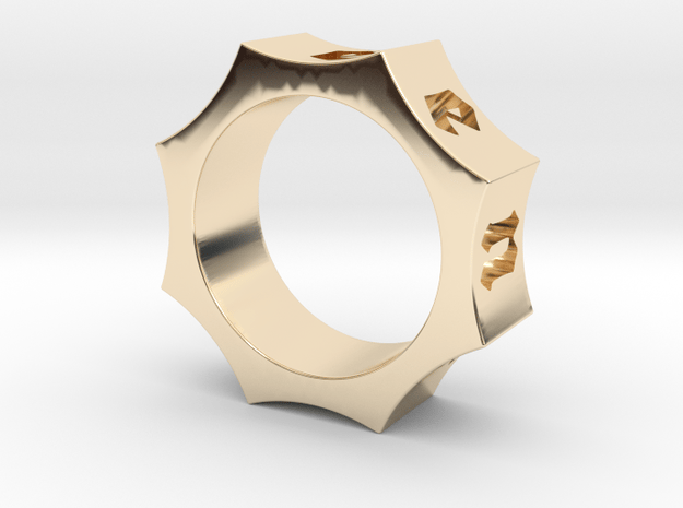 Octagon Ensemble Ring in 14k Gold Plated Brass: 5.5 / 50.25