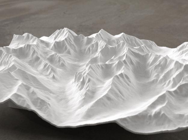 8''/20cm High Tatras, Poland/Slovakia, WSF in White Natural Versatile Plastic