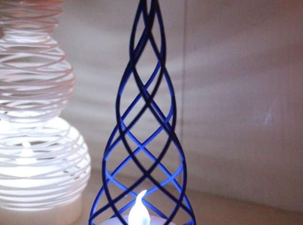 Tealight Cover - Tree (1/3) in White Natural Versatile Plastic