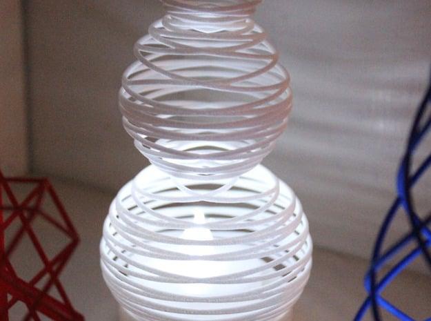Tealight Cover - Snowman (3/3) in White Natural Versatile Plastic