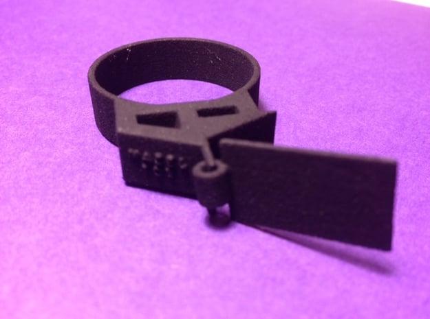 Wedding Ring in Black Natural Versatile Plastic