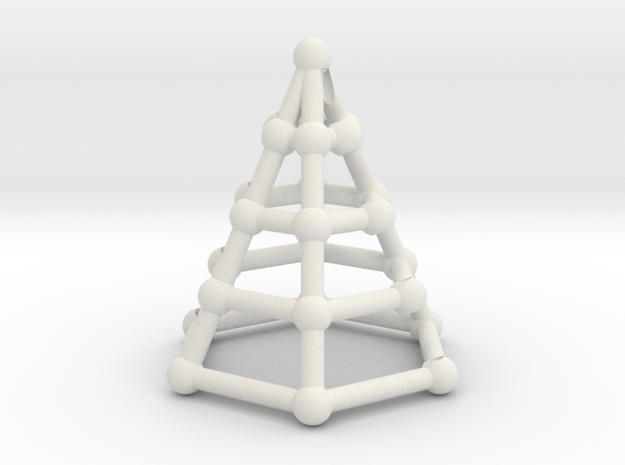 Skeleton cone in White Natural Versatile Plastic