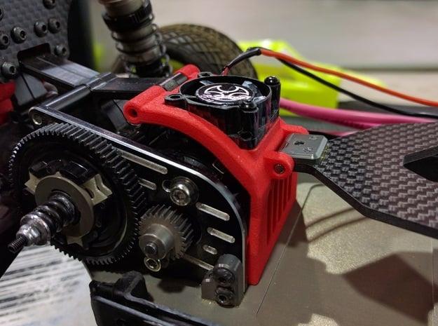 3.0 Fan Brace 25 V2 25mm Fan in Black Natural Versatile Plastic