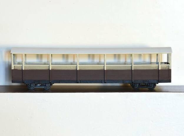 Vale of Rheidol Railway Open Coach (009) in Smooth Fine Detail Plastic