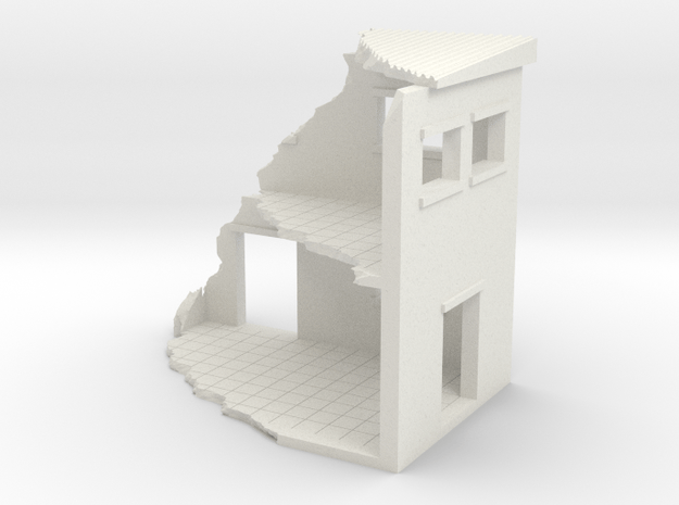 Building In Ruins in White Natural Versatile Plastic