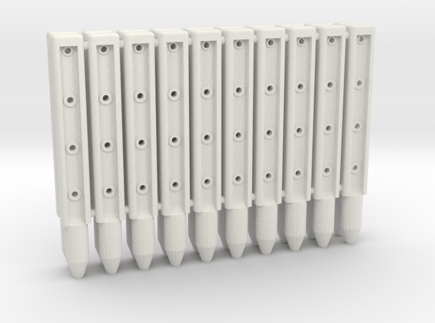 BP3-20, Wire-Rope Safety Barrier Posts in White Natural Versatile Plastic