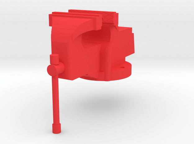 Table Vice in Red Processed Versatile Plastic