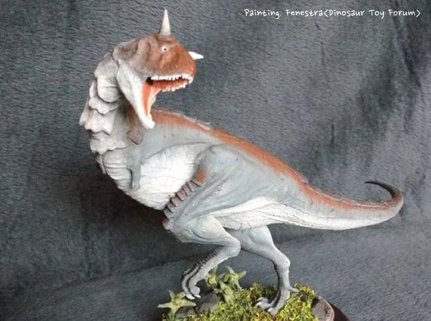 Carnotaurus (Medium / Large size) in White Natural Versatile Plastic: Medium