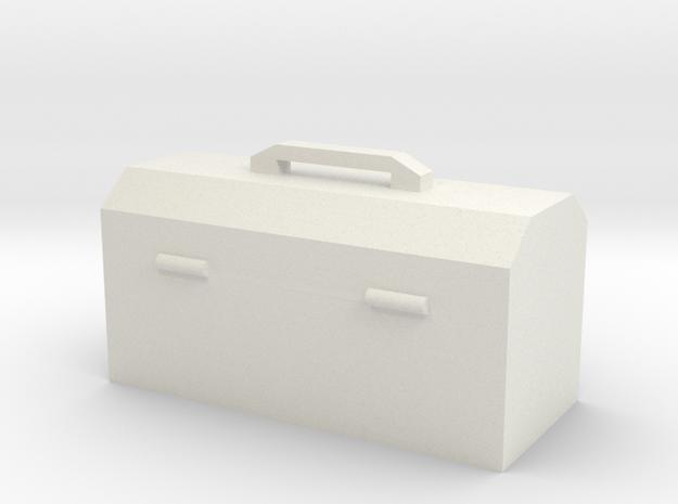 Hand Tool Box in White Natural Versatile Plastic