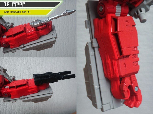TR PMOP Arm Upgrade Set A in Red Processed Versatile Plastic