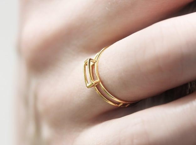 GEM Ring  in 18k Gold Plated Brass: Medium