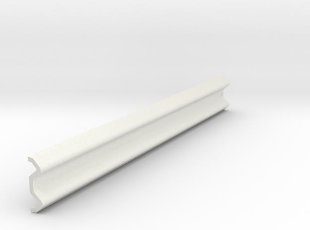Armco Rail Sample 1, 1/32 Scale in White Natural Versatile Plastic
