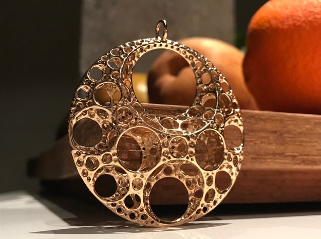 Klein Moon Pendant in Polished Bronze