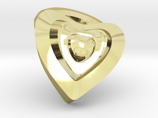 Heart- charm in 18k Gold Plated Brass