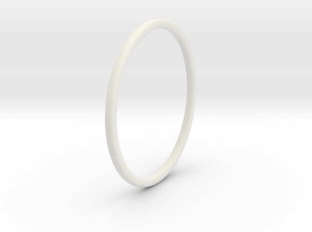Simple band - size 9 US/ 189 mm EU - 1.2 mm thick  in White Natural Versatile Plastic