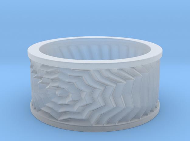 Starburst Ring in Smoothest Fine Detail Plastic: 6 / 51.5