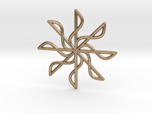 Sine Line Pendant in Polished Gold Steel