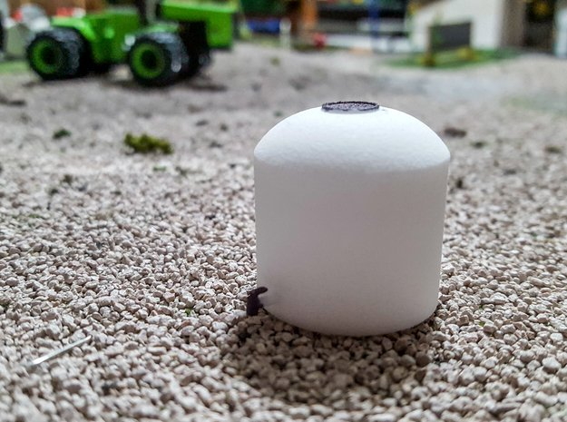 1/64 Poly Tank in White Natural Versatile Plastic