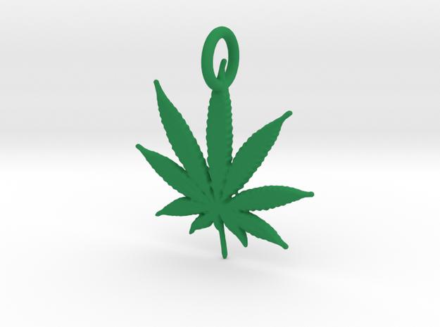 420 Pendant in Green Processed Versatile Plastic