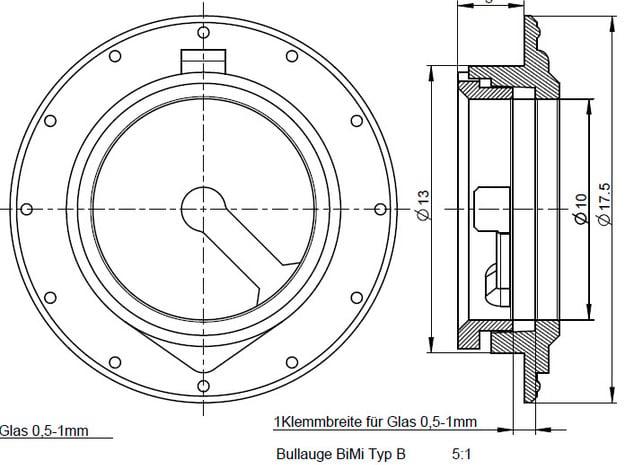 Bullaugen (5 Stück) BM-Boot 1:40 in Smooth Fine Detail Plastic