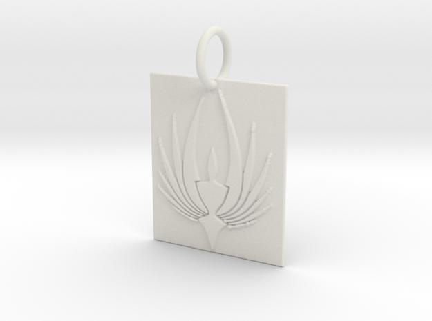 Phoenix Keychain in White Natural Versatile Plastic