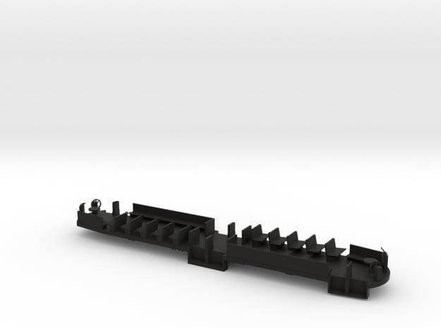 B&QT 8000 O Scale Solid Floor #1a in Black Natural Versatile Plastic