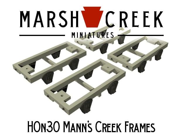 HOn30 Mann's Creek Frames (4) in Smoothest Fine Detail Plastic