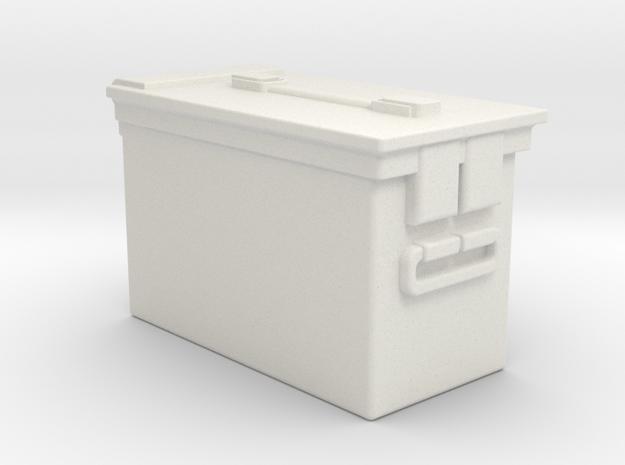 1/10 Ammo Box Single in White Natural Versatile Plastic