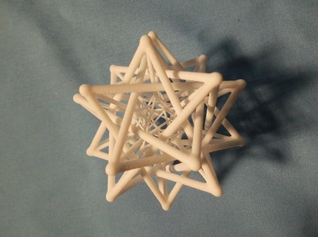 Flexo the Star (big) in White Processed Versatile Plastic