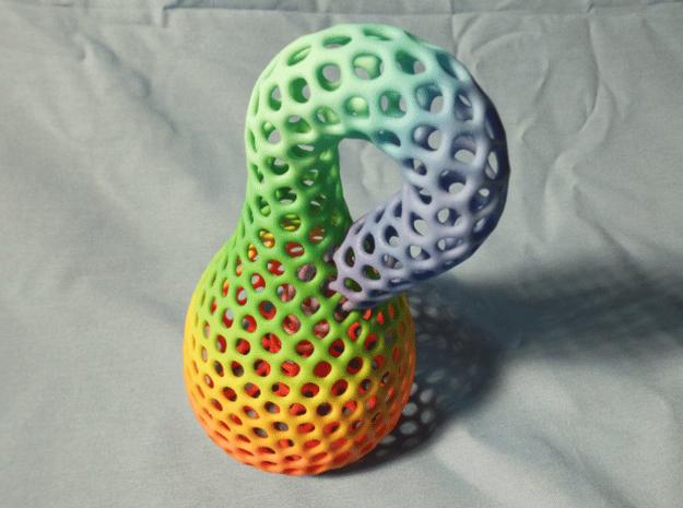 Color Klein bottle irregular holes weave in Full Color Sandstone