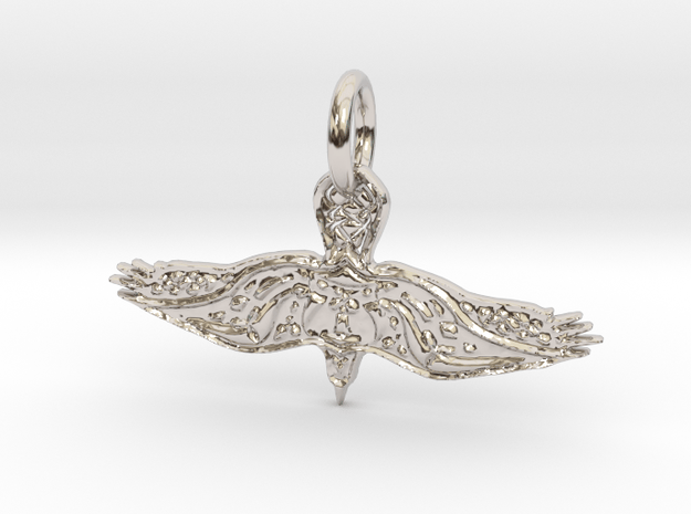 Eagle Pendant in Rhodium Plated Brass