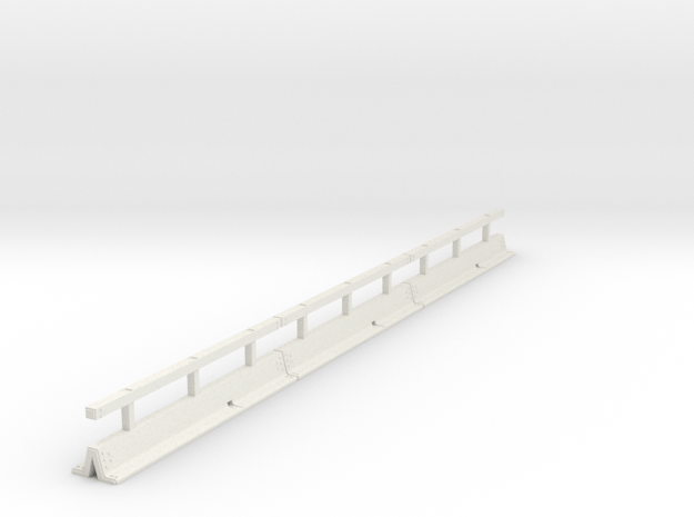 OO scale Varioguard Metal Motorway Barrier 12m len in White Natural Versatile Plastic
