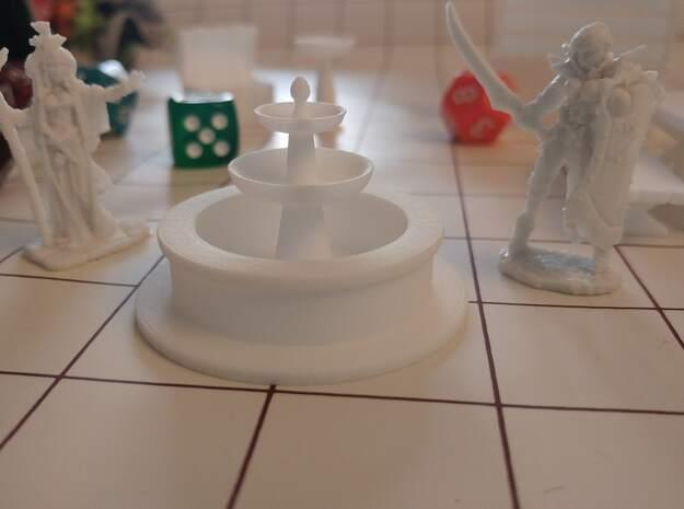Tabletop: Minimal Water Fountain in White Processed Versatile Plastic