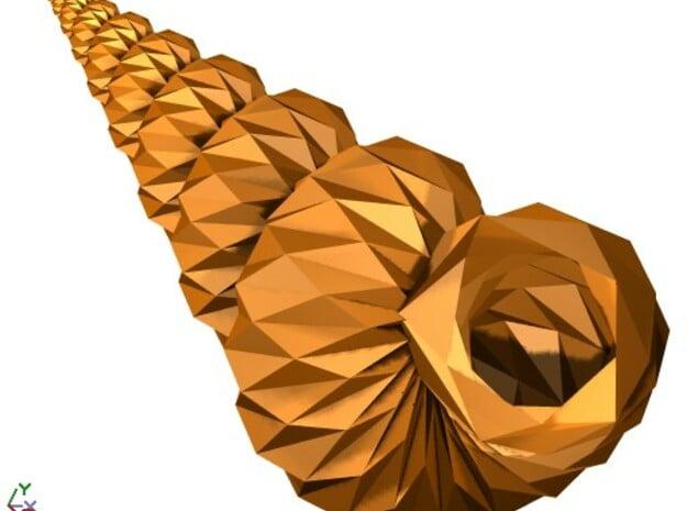 Corrugated Origami Shell - Seashell in White Natural Versatile Plastic