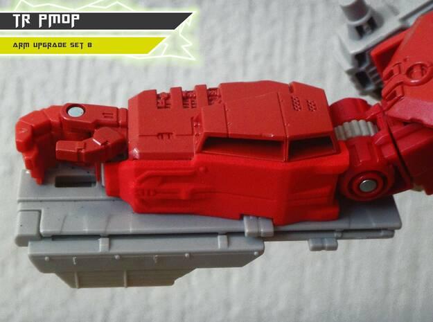 TR PMOP Arm Upgrade Set B in Red Processed Versatile Plastic