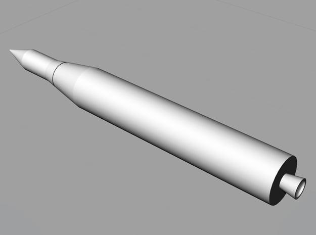 1/200 Juno II Rocket in White Natural Versatile Plastic
