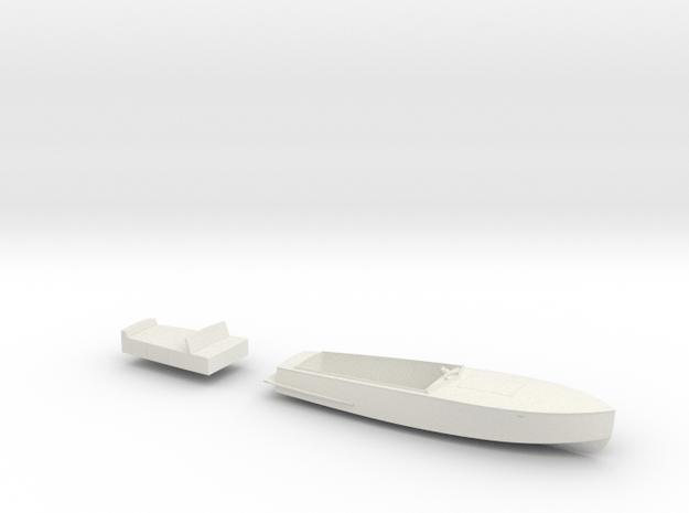 1/48 Julika 660 wooden runabout electro speedboat in White Natural Versatile Plastic