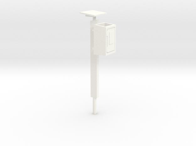 S1-242   Fernsprechkasten am  Betonpfahl in White Processed Versatile Plastic