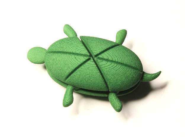 Hearturtle in Green Processed Versatile Plastic