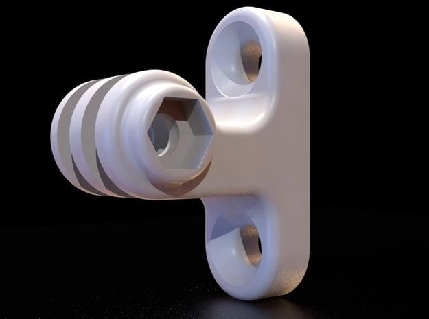 GoPro Mount for Brompton Cargo Block in White Natural Versatile Plastic
