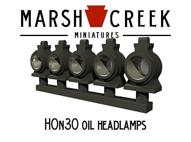 HOn30 Locomotive Oil Lamp in Smoothest Fine Detail Plastic