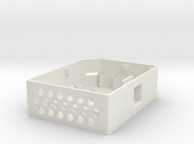 OpenBCI Box Base in White Natural Versatile Plastic