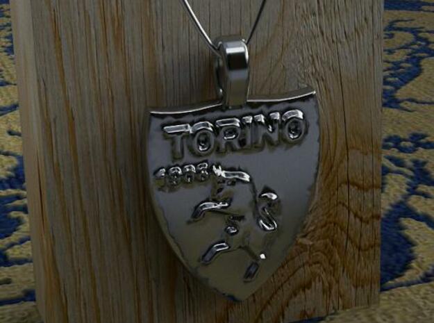 Pendente Torino Calcio in Polished Silver